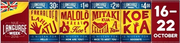 nuiean language week stamps